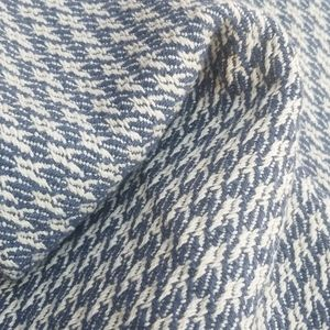 Heavy blue & white textured upholstery fabric